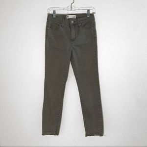 rsq olive green cali high rise jeans